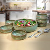 Simply Modern Pottery Collection: Salad Serving Set in Sage Green
