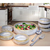 Simply Modern Pottery Collection: Salad Serving Set in Vanilla Wisp