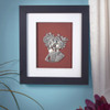 You Are My World Framed Pewter Art
