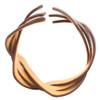 Flexible Woven Wooden Cuff Bracelet, Madrone + Purpleheart