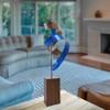 Bent Wood and Aluminum 'Blue Waltz' Tabletop Sculpture