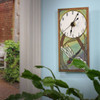 Mini Ceramic Wall Clock: Dragonfly in Reeds