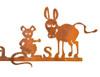 Rat's Ass Rusty Metal Garden Sign