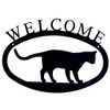 Iron Welcome Sign: Cat