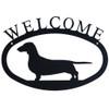 Iron Welcome Sign: Dachshund