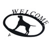 Iron Welcome Sign: Pointer Dog