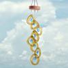 Recycled Glass Bottle Wind Chime: Aqua Drop