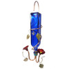 Blue Bottle + Copper Hummingbird Feeder