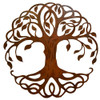 Rusty Celtic Tree of Life Outdoor Wall Art