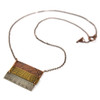 Natural Fern Impressions Triple Bar Necklace