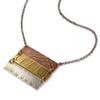 Natural Fern Impressions Triple Bar Necklace