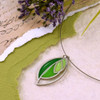 Modern Abstract Style Stainless Steel Leaf Pendant