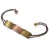 Natural Fern Impressions Triple Link Bracelet