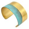 Rising Tide Brass Cuff Bracelet