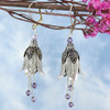 Fairy Flower Earrings : Silver Bellflower