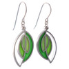 Modern Abstract Style Stainless Steel Leaf Earrings