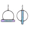 Mismatched Stained Glass Earrings: Iridescent Blue Opal