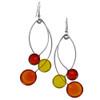 Kinetic Sculpture Inspired Earrings: Orange Yellow Trio