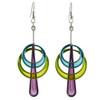 Kinetic Sculpture Inspired Earrings: Double Orbit Drops