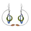 Kinetic Sculpture Inspired Earrings: Multicolor Modernist Mobile