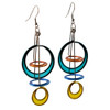 Kinetic Sculpture Inspired Earrings: Large Color Galaxy