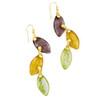 Artisan Glass & Gold Plate Autumn Leaves Drop Earrings