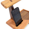 Natural Wood Phone Amplifier Valet Tray and Headphone Stand