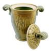Classic Handmade Pottery Small Lidded Jar with Ash Glaze Drip