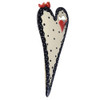 Love Nest Sculpted Heart Ceramic Wall Vase