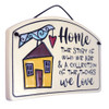 Ceramic Arch Plaque with Home Story Quote
