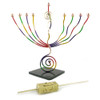 Brass Rainbow Menorah and Dreidel