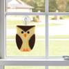 Whimsical Owl Fused Glass Suncatcher