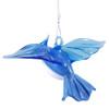 Blue Jay Hanging Art Glass Figurine