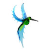 Exotic Hummingbird Hanging Art Glass Figurine