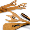 Wild Cherry Wood Serving Utensil Set, Cathedral Collection