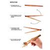 Fold Flat Spring Hinge Natural Cherry Wood Chopsticks