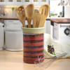Stoneware Utensil Holder/Wine Chiller in Red Delicious