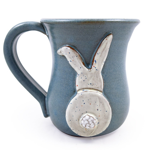 Whimsical Bunny Butt Stoneware Mug