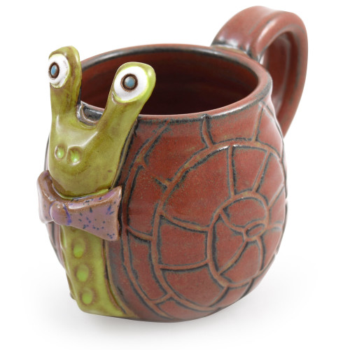 Shelldon the Snail Sculpted Coffee Mug