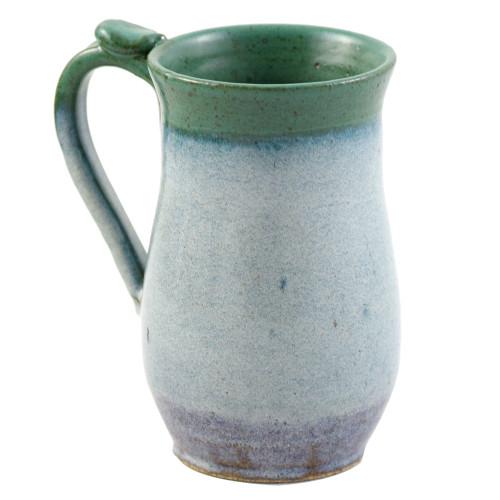 Classic Tall Pottery Mug with Thumb Grip