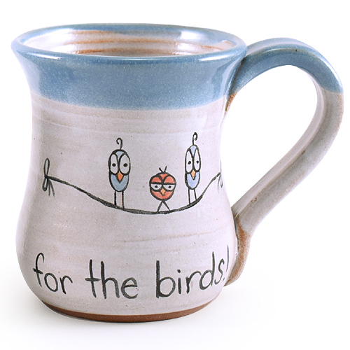 Mornings are for the Birds Stoneware Mug