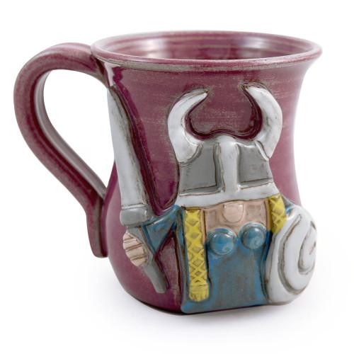 Viking Sculpted Stoneware Mug (Female Version)