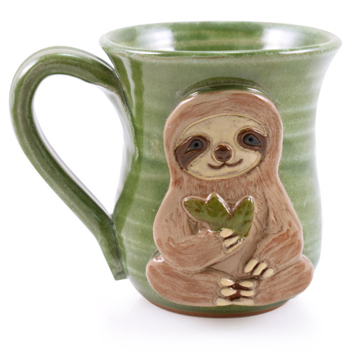 Three-Toed Sloth Stoneware Coffee Mug