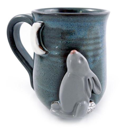 Moon Bunny Stoneware Mug