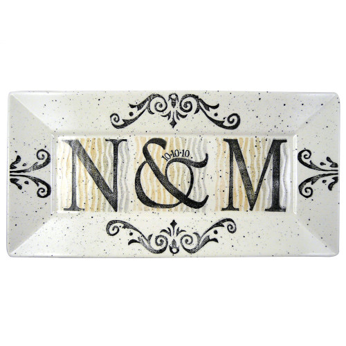 Personalized Initials Wedding/Anniversary Platter
