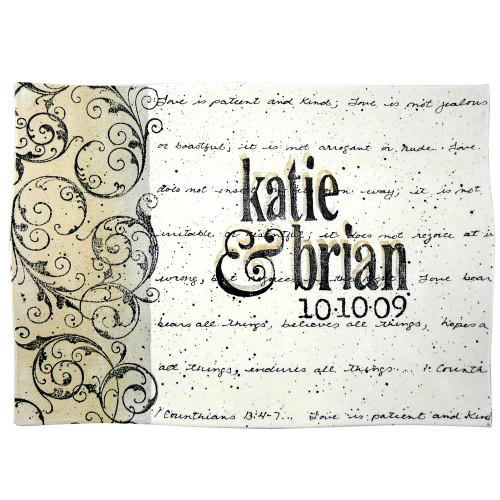 Corinthians Verse Personalized Wedding Platter