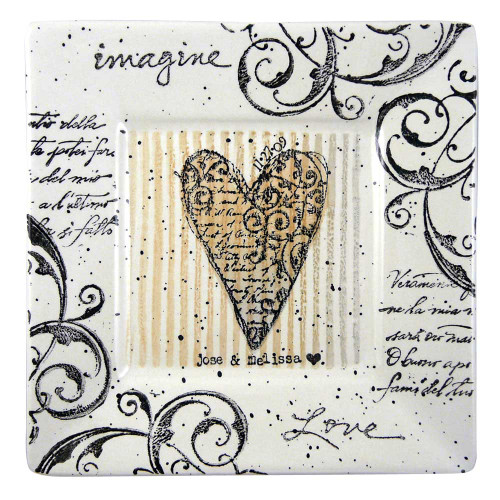 'Imagine Love' Personalized Keepsake Plate