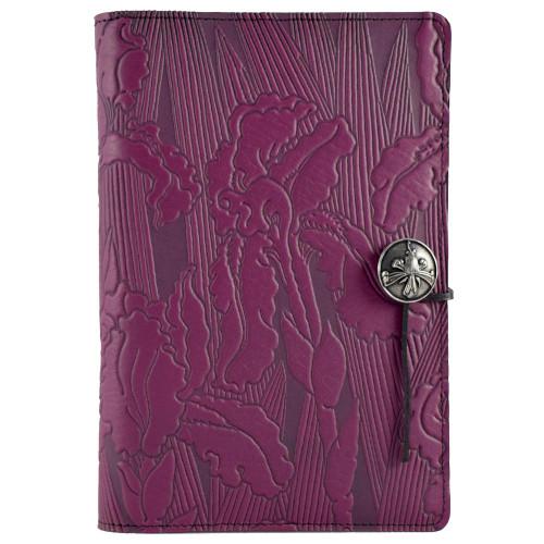 Embossed Leather Journal: Purple Iris
