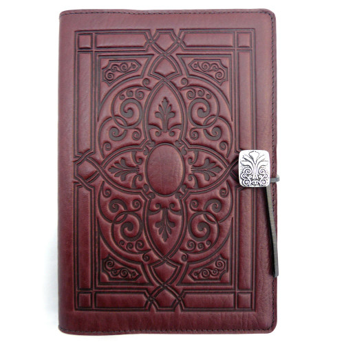 Embossed Leather Journal: Wine Florentine
