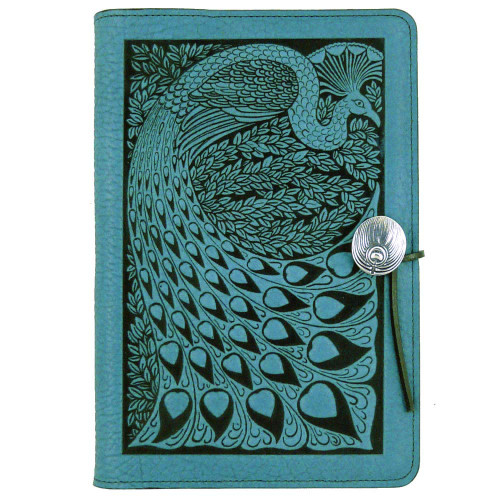 Embossed Leather Journal: Peacock